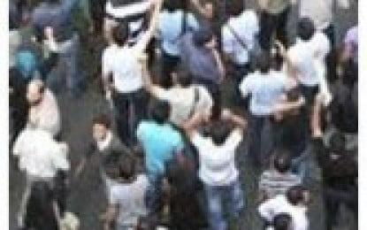 "Chants of ""Long live Iranian Republic"", Gathering in Imam Hossein Square"