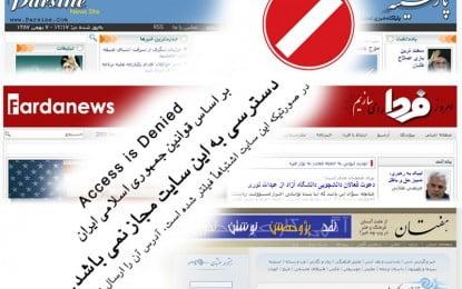 More news websites blocked in Iran