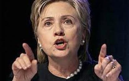 Clinton condemns 'hypocritical' Iran