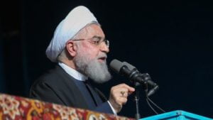 Iranian President Hassan Rouhani threatens to close Strait of Hormuz if US blocks oil exports