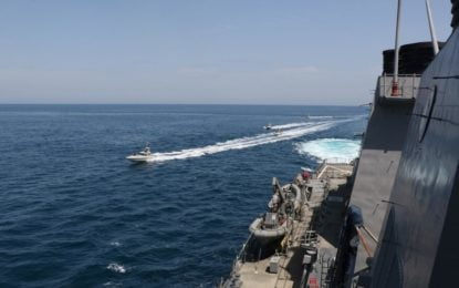 In veiled warning to Iran, U.S. tells Gulf mariners to stay clear of its warships